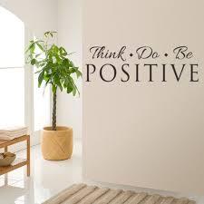 Think Do Be Positive Wall Decals Vinyl Sticker Decor Quote Room Home Decor Walmart Com Walmart Com