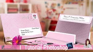 Sobre Para Tarjeta De Invitacion Cumple Tutorial Photoshop Candy
