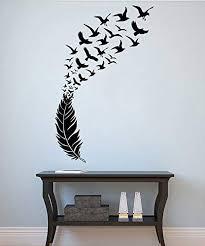 Bird S Feather Wall Decal Feather Vinyl Sticker Birds Decals Bedroom Decorations Wall Art Decor 7bdfr Amazon Com