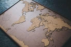 Big Lasercut And Handmade Cork World Map Wall Art With Etsy