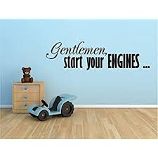 Amazon Com Gentlemen Start Your Engines Racing Race Cars Vinyl Wall Decal Sticker Boys Kids Room Home Decor Home Kitchen