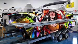 2020 Custom Pontoon Boat Wrap Design Graffiti Greenback Wraps Com