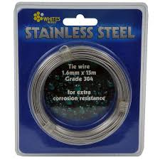 Whites 1 60mm X 15m Stainless Steel 304 Grade Tie Wire Bunnings Warehouse