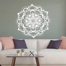 Bohemian Wall Decals Living Room Mandala Vinyl Wall Sticker Decor For Yoga Studio Bedroom Decal Mehndi Room Decoration C418 Wall Stickers Aliexpress