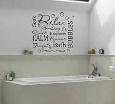 Bathroom Relax Calm Bubbles Wall Quote Decal Wall Decals Stickers Ebay