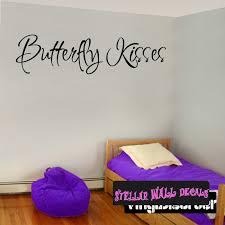 Butterfly Kisses Family Wall Decals Wall Quotes Wall Murals C006 Swd