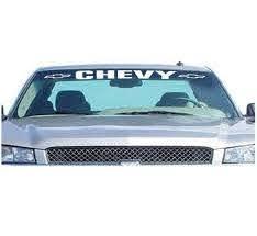 Silverado Windshield Banner Vinyl Decal Sticker Chevrolet