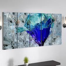 Latitude Run Painted Petals Lx By Tristan Scott 5 Piece Wrapped Canvas Print Set Reviews Wayfair