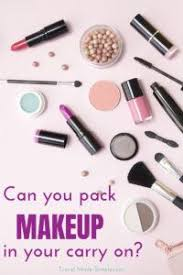 can you bring makeup on a plane