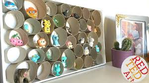 Easy Display Case For Shopkins Diy Room Decor Inexpensive Easy Cute Tp Roll Craft Youtube
