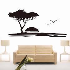 Wall Sticker Mural Sunset Seagulls Big Tree Decal Removable Wallpaper Modern Home Decor Landscape Vinyl For Living Room Art Vinyl Wall Decals Wall Decalstree Sales Aliexpress