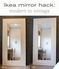 makeover diy floor mirror from ikea
