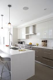 modern white backsplash tile google