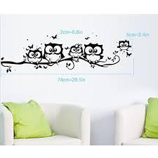 Clearance Willtoo Kids Vinyl Art Cartoon Owl Butterfly Wall Sticker Decor Home Decal Kitchen Dining B01cp0t2vk