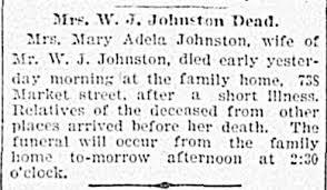Mary Adela Turner Johnston (1845-1899) - Find A Grave Memorial