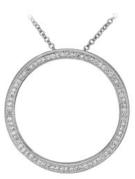 white gold round diamond pendant