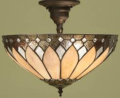 brooklyn semi flush 3 light tiffany