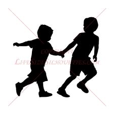 0000132 Boys Running 2 Children Silhouette Decals Gif Gif Image 350 350 Pixels Kids Silhouette Boy Silhouette Silhouette