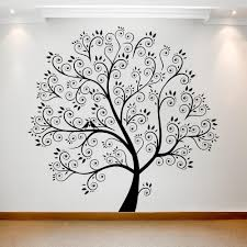 Art Tree Beautiful Black Silhouette On The Wall Best Deals With Free Uk Standard Delivery Mizzli