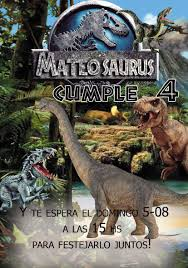 20 Bolsitas 20 Invitaciones Pinata Jurassic World Dinos