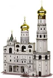 Amazon.com: Innovation 3D Puzzle - Ivan the Great Bell Tower - UMBUM 326 by  Clever Paper 62 Pieces: Toys & Games