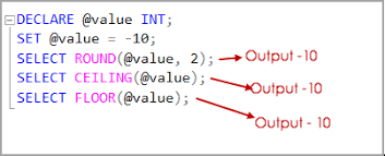 rounding functions sql round
