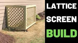 Hide Your Garbage Can Build A Lattice Screen Youtube