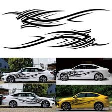 Amazon Com Lovelychica 2pcs Flame Pattern Decal Car Sticker Decals Waterproof Graphic Car Sticker Graphic Line Decal Fender Body Door Decor For All Cars Beauty