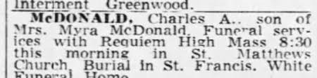 Obituary for Charles A. McDONALD - Newspapers.com