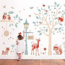 Our Woodland Wall Decals Theme Creates A Truly Magical Little World For Your Child S Bedroom Or Nurs Woodland Wall Decals Boys Bedroom Wallpaper Room Wallpaper