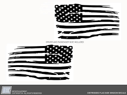 Distressed American Flag Decal Toyota 4runner Tacoma Fj Sequoia Tund Importequipment