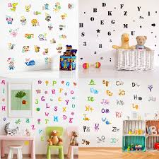 Number Alphabet Abc Letter Educational Wall Stickers Children Kids Baby Nursery Room Home Decor Vinyl Decal B Wall Stickers Aliexpress