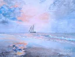 Pink Sunrise Pastel by Liza Smith-Simpson