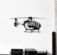 Vinyl Wall Decal Helicopter Air Boys Kids Room Aviation Stickers Mural Wallstickers4you
