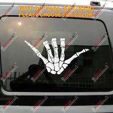 Shaka Hang Loose Skeleton Skull Hand Decal Sticker Car Vinyl Reflective Glossy Ebay