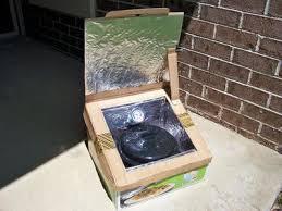 small cardboard box solar oven