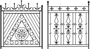Wrought Iron Gate Door Fence Window Grill Railing Design Royalty Free Cliparts Vectors And Stock Illustration Image 46431783