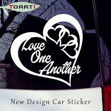Love One Another Heart Vinyl Decal Sticker Car Window Wall Bumper Peace Symbol Self Adhesive Waterproof Art Car Styling Stickers Car Styling Stickers Vinyl Decals Stickersdecal Sticker Aliexpress