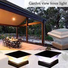 Outdoor Garden Solar Powered Led Post Deck Cap Square Fence Landscape Lamp Light Shopee Philippines