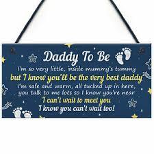 p plaque baby shower present to dad