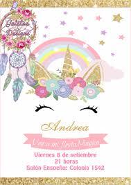 15 Invitaciones Unicornio Cumple Tarjetas Novedad 225 00 En