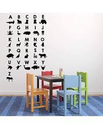 Amazing Deal On Animal Abc Wall Decal Alphabet Vinyl Decor For Baby S Nursery Bedroom Kids Room Playroom Or Classroom