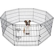 Amazon Com Pet Dog Playpen Foldable Puppy Exercise Pen Metal Portable Yard Fence For Small Dog Travel Camping 8 Panel 24 42 24 X24 Pet Supplies