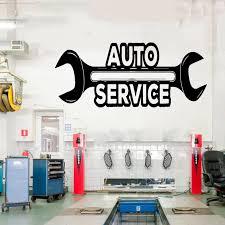 Car Auto Repair Logo Auto Service Vinyl Sticker Roll Tires Repair Car Studio Shop Window Sticker Waterproof Cs21 Wall Stickers Aliexpress