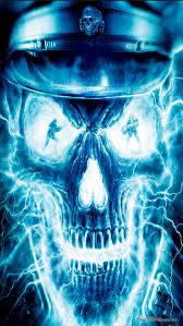 blue skull wallpaper