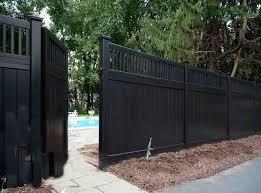 Black Vinyl Fence Gate Backyard Fences Fence Design Modern Fence