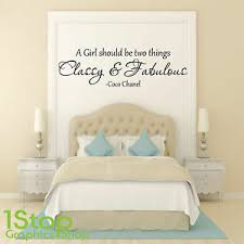 Classy And Fabulous Wall Sticker Quote Coco Chanel Bedroom Wall Art Decal X178 Ebay