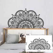 Creative Removable Mandala Bedside Sticker Wall Art Stickers Decals For Bedroom Decoration 28x57cm Wish