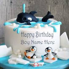 cartoon birthday cake with name edit