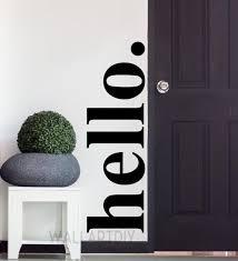 Hello Wall Decals Hello Wall Sticker Hello Door Decals Vinyl Etsy